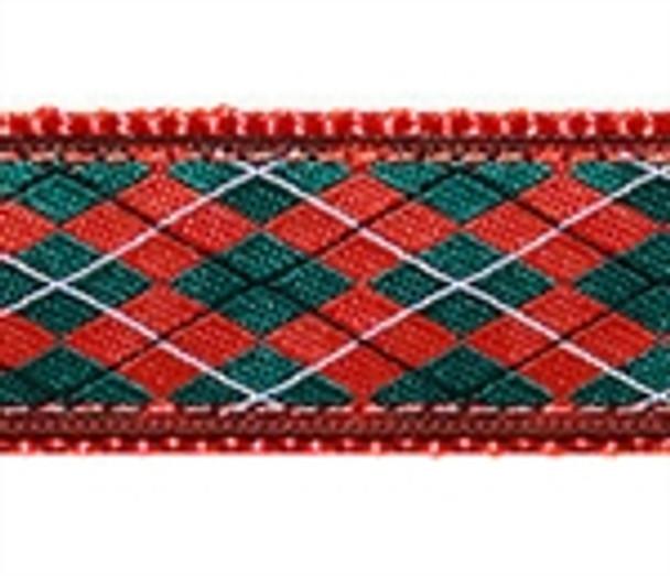 Christmas Argyle Dog Collars