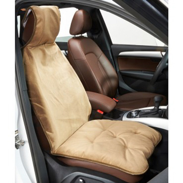 Cashew Microvelvet Single Car Seat Cover