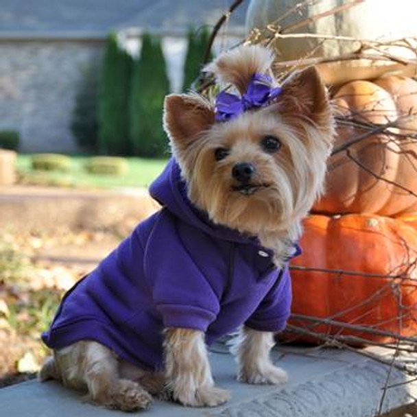 Large & Small Dog Hoodie Sweatshirt in Ultra Violet
