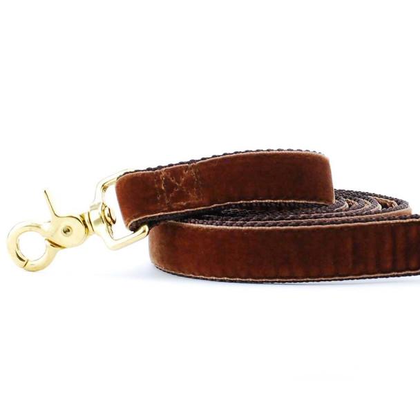 Brown Swiss Velvet Dog Leash