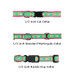 Whales Green On Navy 1/2, 3/4 & 1.25 inch Dog & Cat Collar, Harness