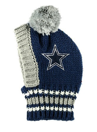 Nfl Dallas Cowboys Dog Knit Ski Hat Hip Doggie