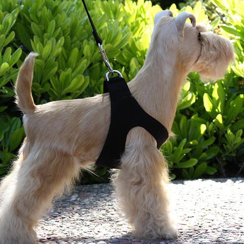 Q111_PLN_BLKStudio2_500__23102.1460903460.500.659?c=2 plain ultrasuede pet dog step in harness black