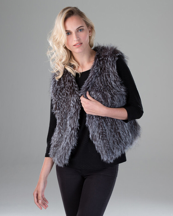 Fox Fur Knit Vest