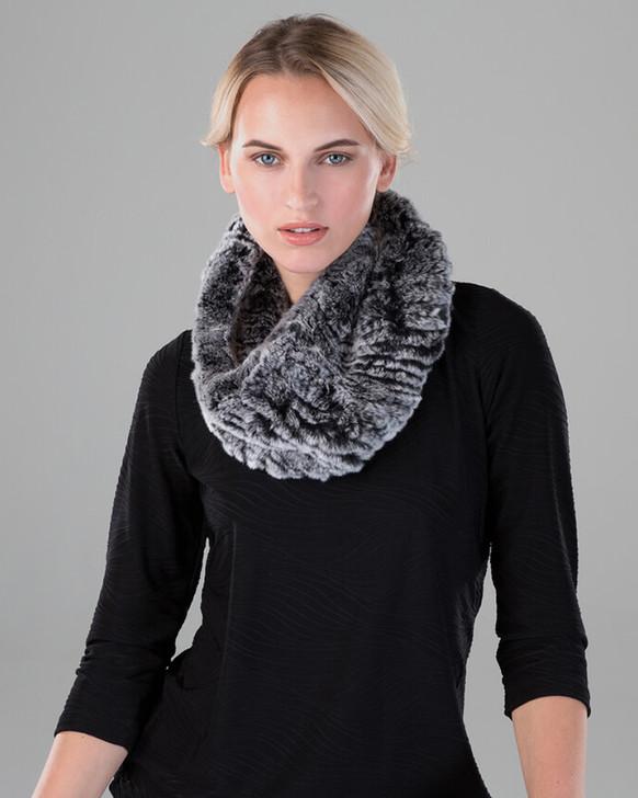 Rex Rabbit Fur Textile Infinity Loop