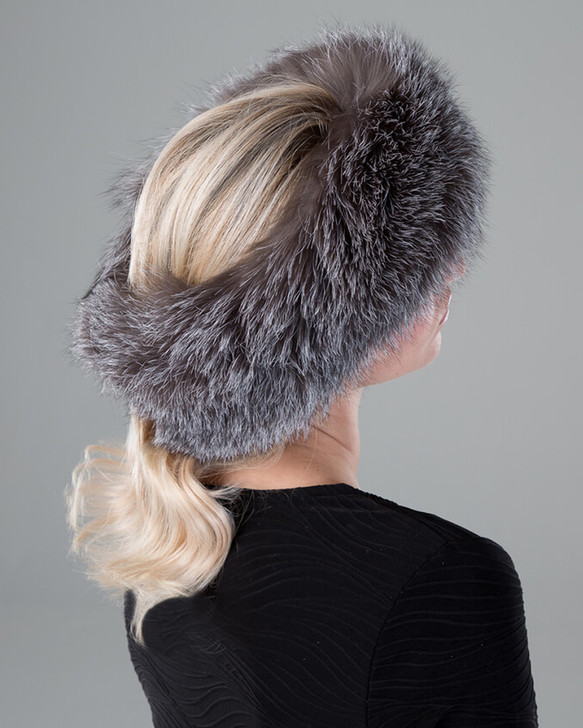 Fox Fur Two-In-One Headband/Scarf with Velcro