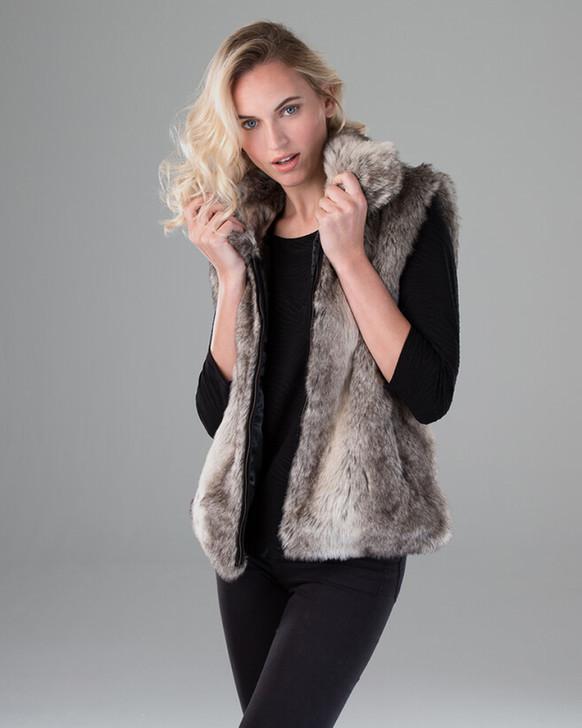 Faux Rabbit Fur Vest