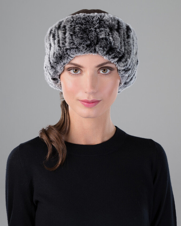 Rex Rabbit Fur Knit Headband