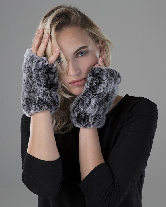Rex Rabbit Fur Texting Mittens