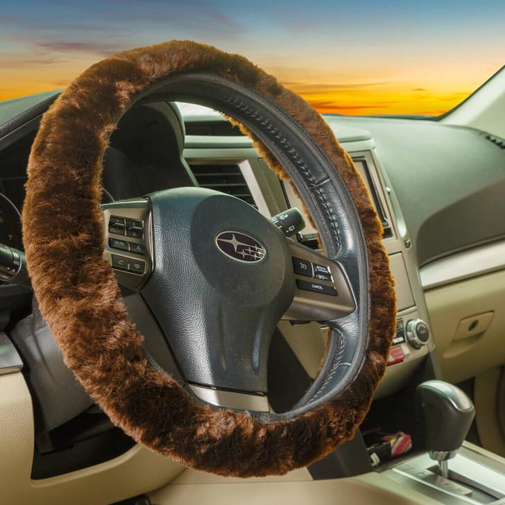 Shearling Steering Wheel Cover
