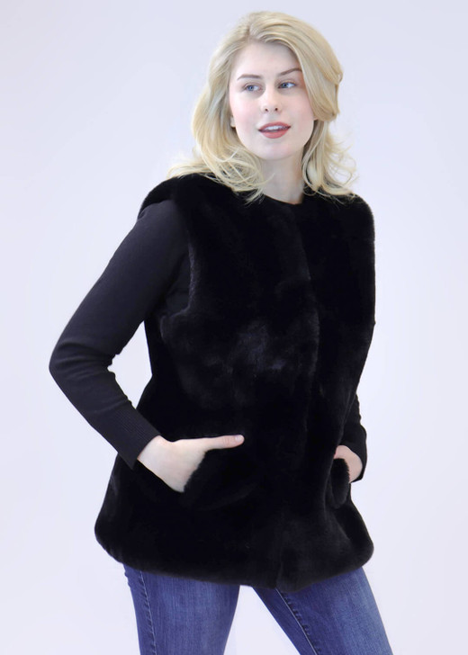Faux Rex Rabbit Fur Vest