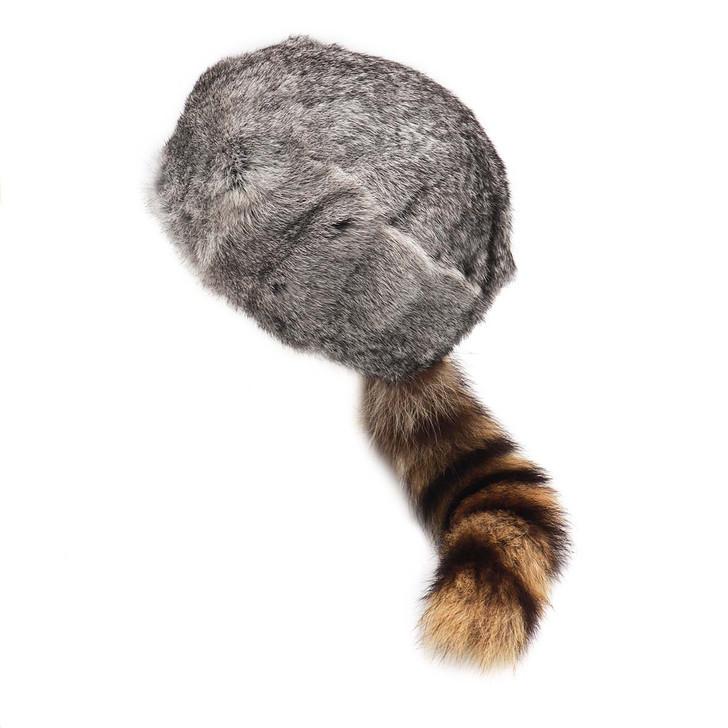 Rabbit Fur Davy Crockett Hat