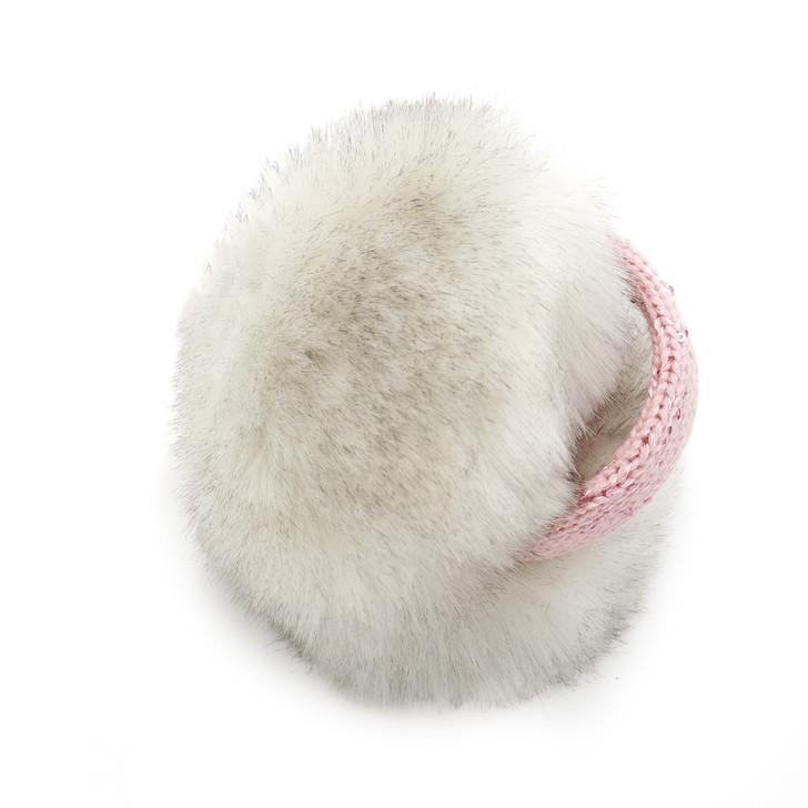 Children's Faux Fox Fur Earmuff with Bling Band