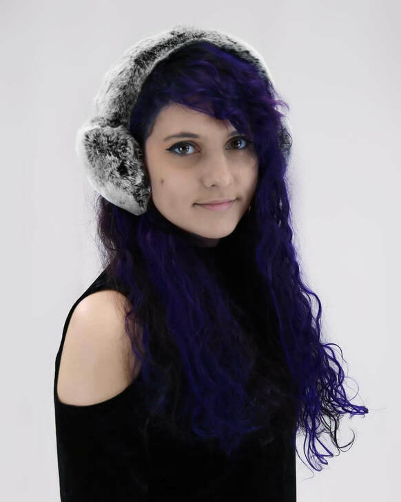 Rex Rabbit Earmuff with Halo Band in Black Frost