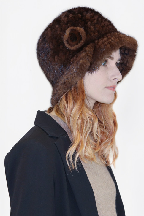 Mink Fur Cloche