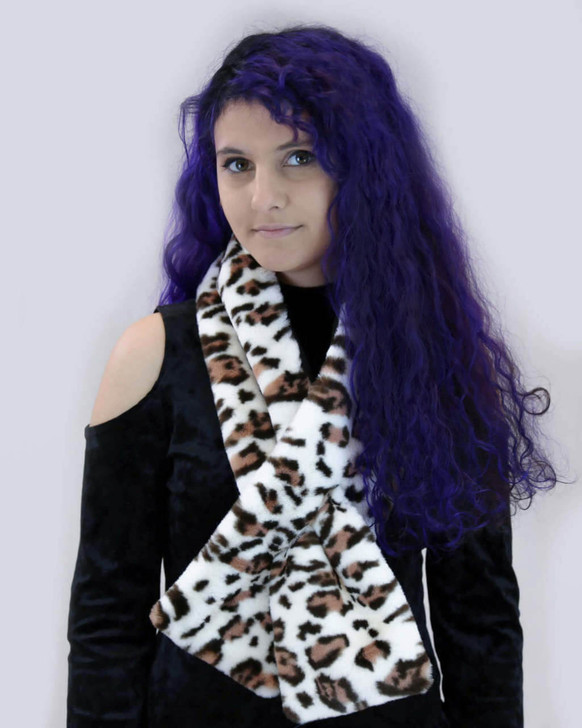 Faux Rex Rabbit Fur Pull-Through with Lining