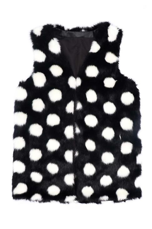 Faux Rabbit Fur Polka Dot Vest
