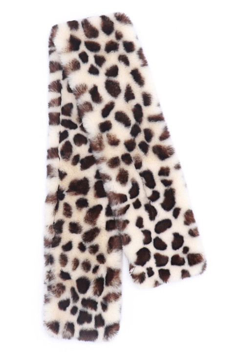Spotted Faux Fur Rex Rabbit Pull-Through