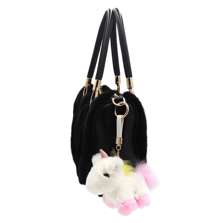 Rex Rabbit and Fox Fur Unicorn Keychain