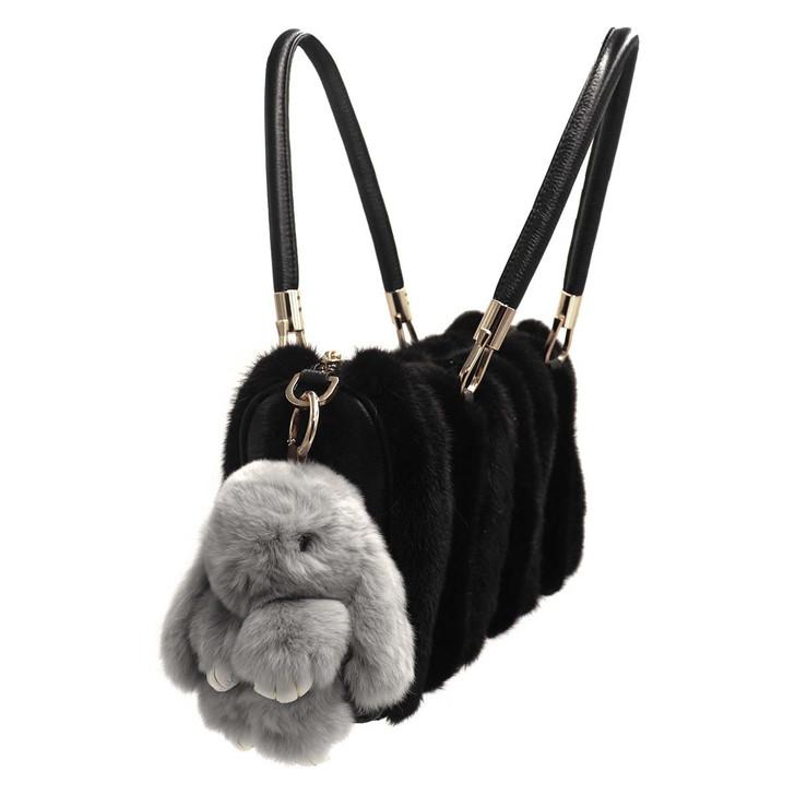 Rex Rabbit Fur Bunny Keychain