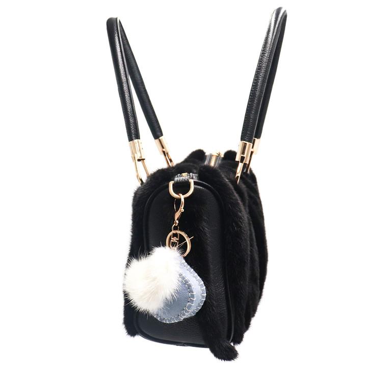Shearling Mink Bag Keychain