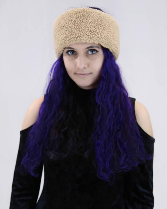 Faux Sherpa Headband/Scarf