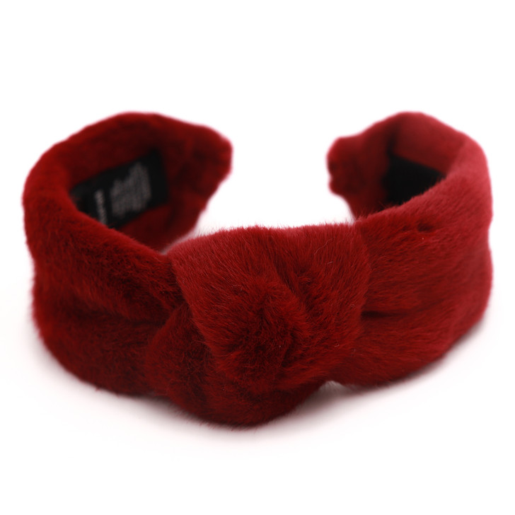 Faux Mink Hairband with Knot