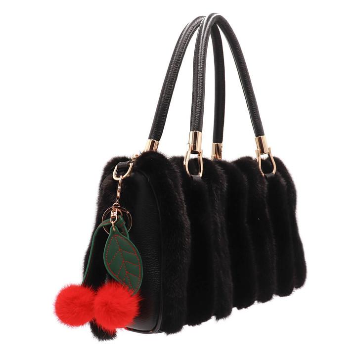 Mink Fur Cherry Keychain