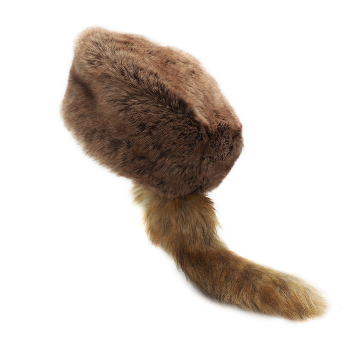 Faux Fur Davy Crockett Hat
