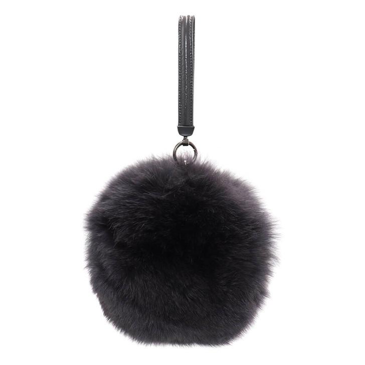 Round Fox Fur Bag
