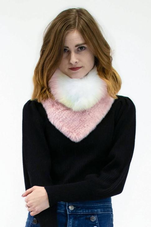 Mink Fur Collar with Fox Fur Trim