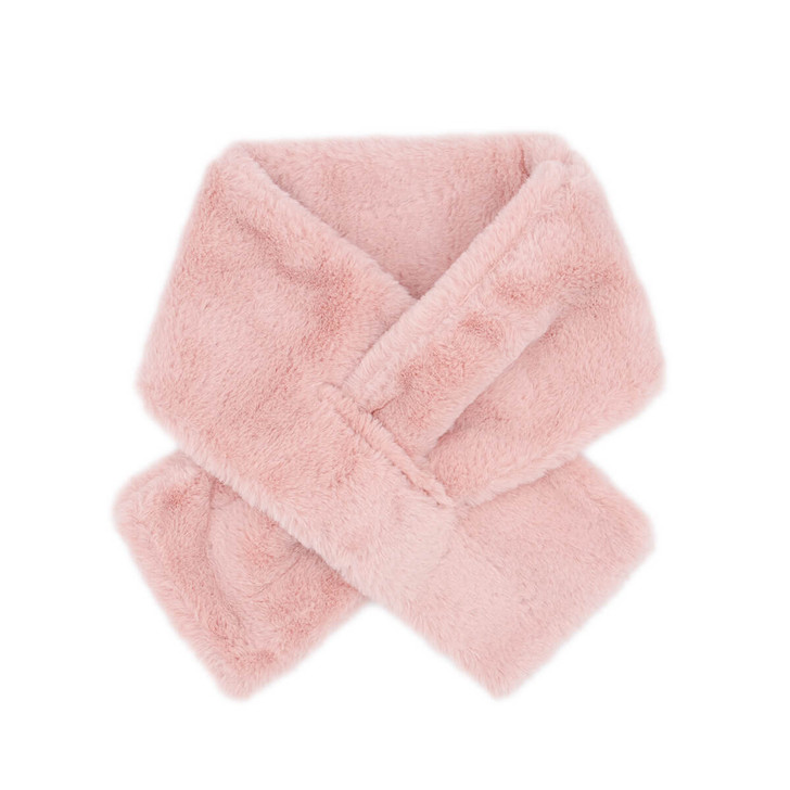 Children's Faux Sherpa Pull-Through Scarf