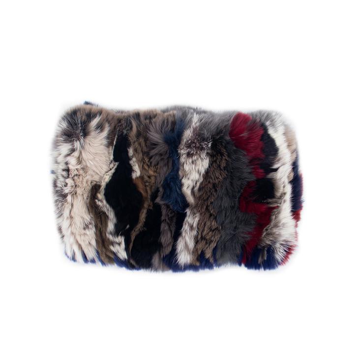 Non-Tapered Rex Rabbit Fur Textile Headband
