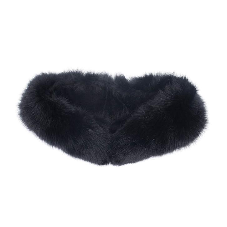 Fox Fur Collar with Velvet Lining