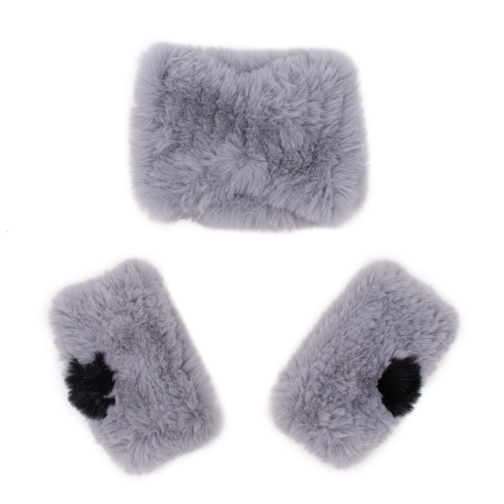 Faux Fur Textile Knit Set