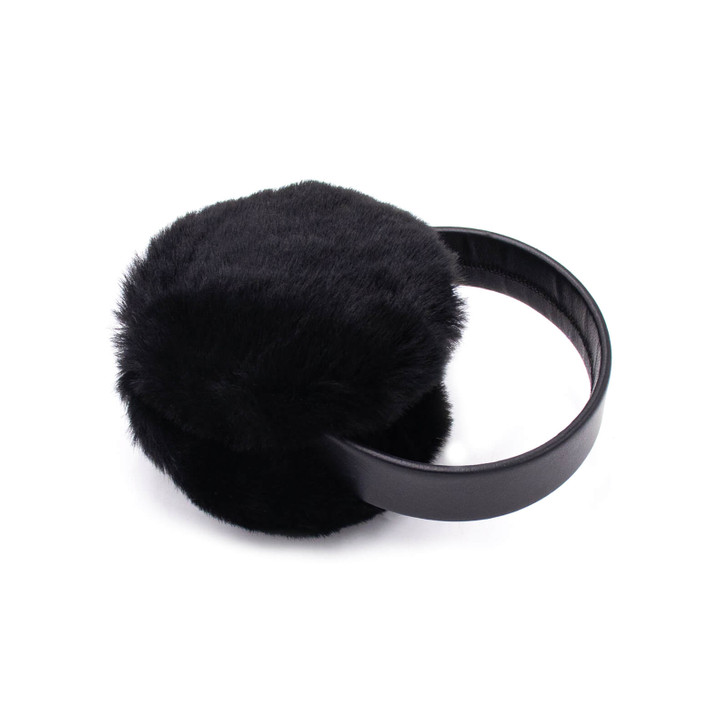 Shearling Earmuffs with Leather Band