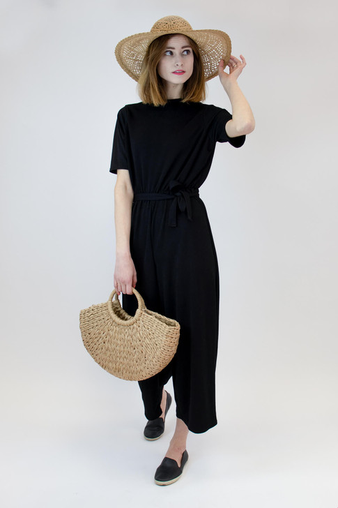 Paper Straw Bag with Round Handle