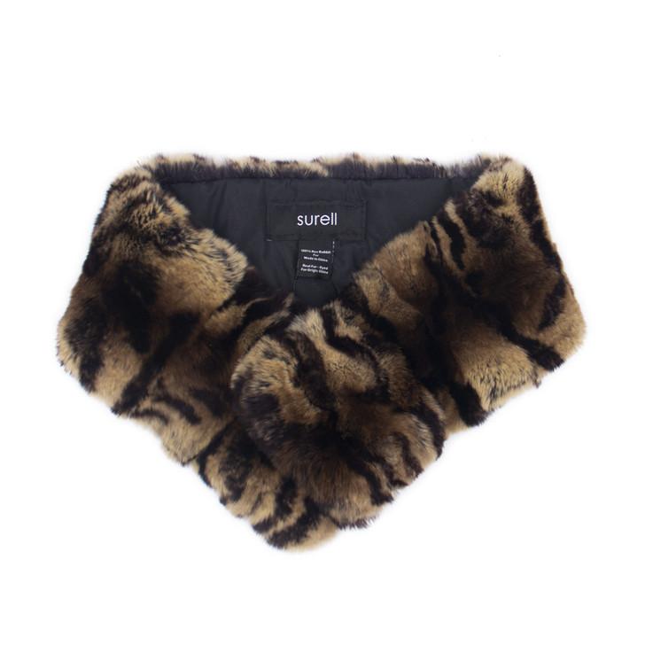 Rex Rabbit Fur Collar with Clip