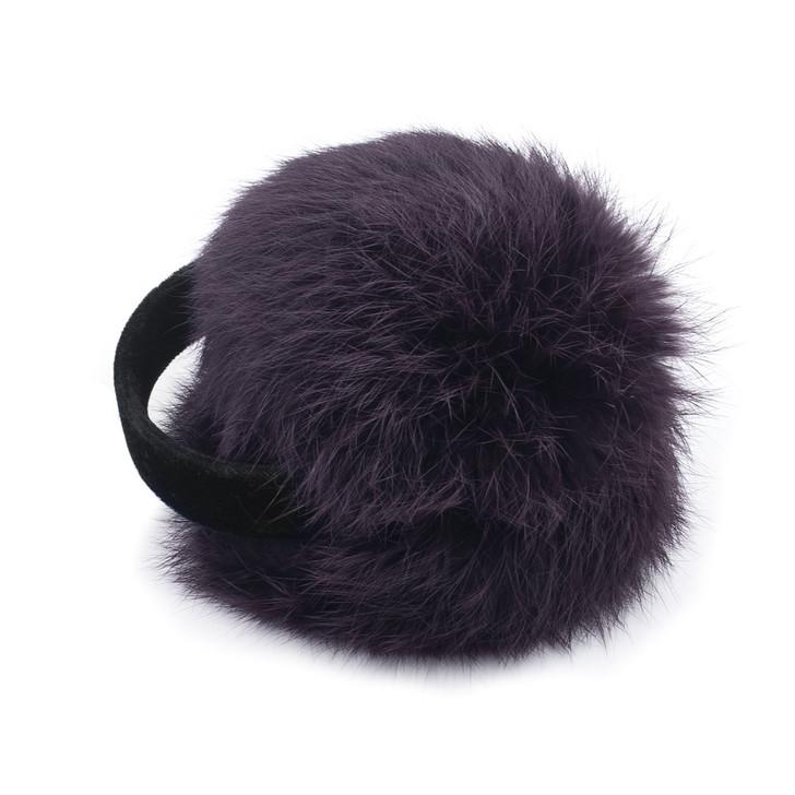 Purple Frost Rabbit Fur Earmuffs