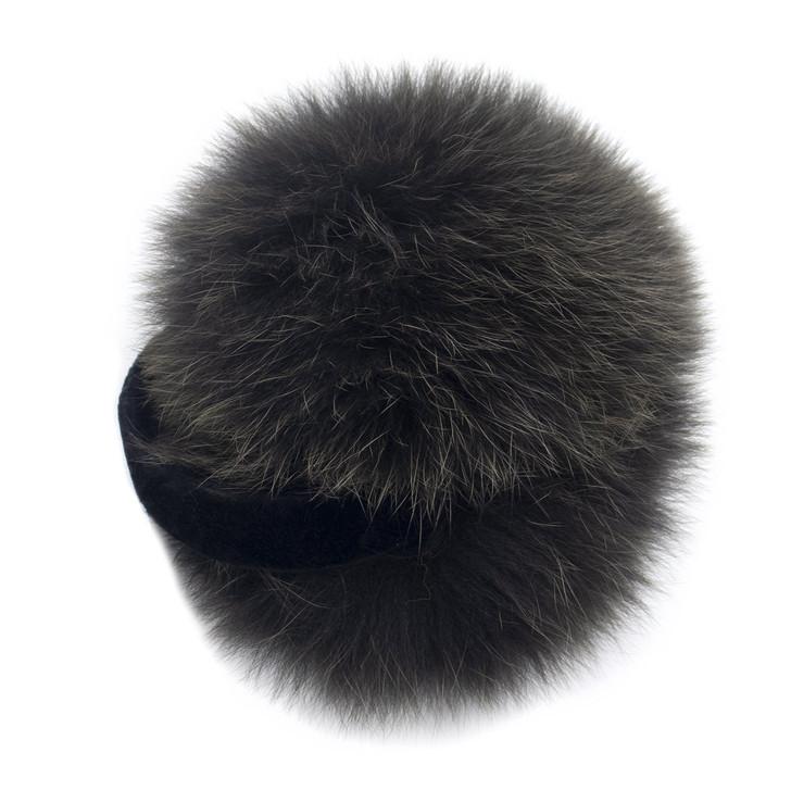 Army Green Fox Fur Earmuffs