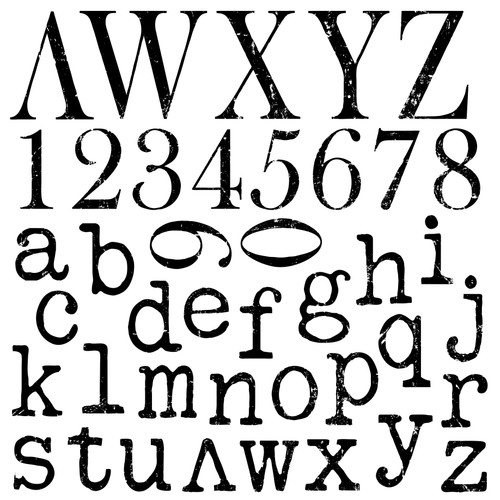 Typesetting 12x12 Decor Stamps™