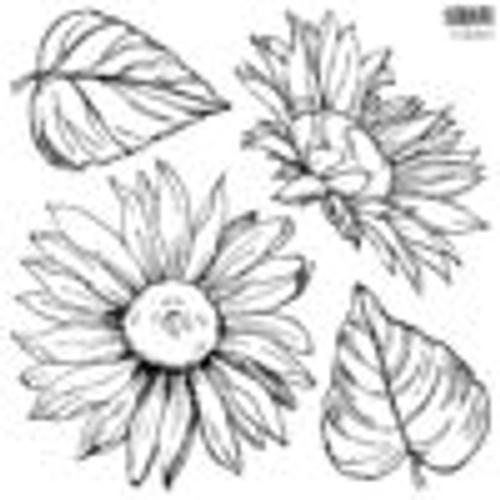 Sunflowers 12x12 IOD Stamp™