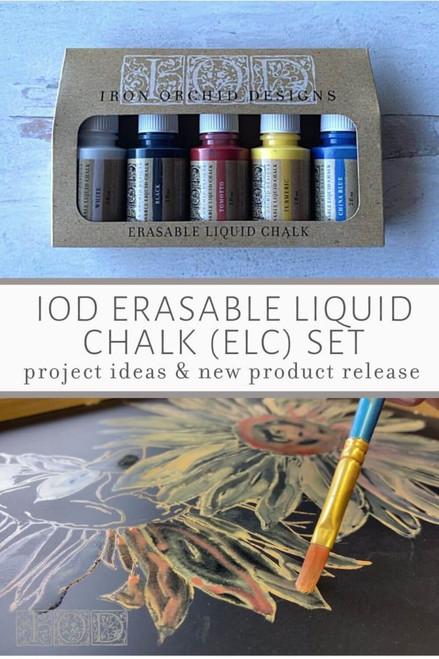 Erasable Liquid Chalk 5 Color Set