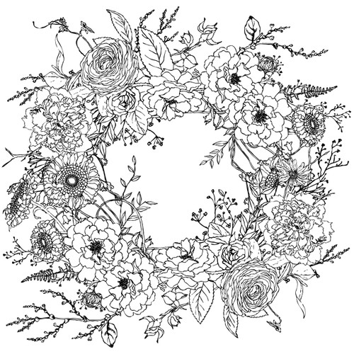 Winter's Song Wreath 24x24 Paintable™ Decor Transfer™