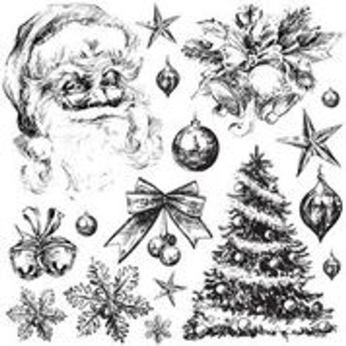 Holly Jolly 12x12 IOD Stamp™