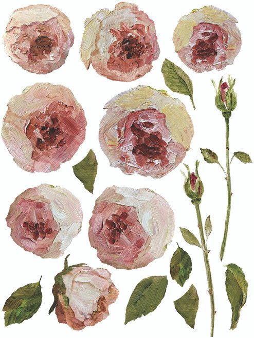 Painterly Florals IOD Transfer 12x16 Pad™