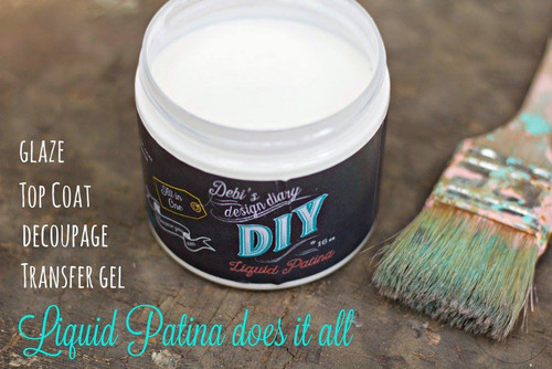DIY Crystal Clear Chandelier Liquid Patina