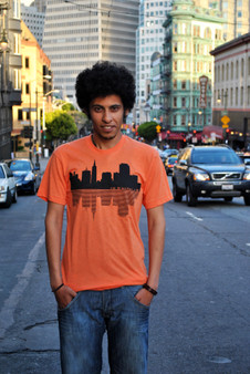 SF Skyline Tee - Orange