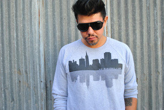 SF Skyline Crewneck Sweatshirt - Grey