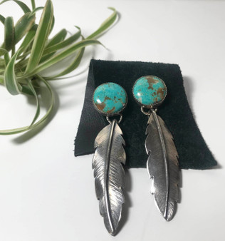 Feather Turquoise Earrings